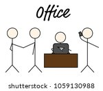 business stickman figure.... | Shutterstock .eps vector #1059130988
