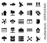 flat vector icon set   archive... | Shutterstock .eps vector #1059131963