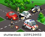 vector illustration. crash at... | Shutterstock .eps vector #1059134453
