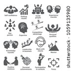 business management icons pack...   Shutterstock .eps vector #1059135980