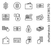 flat vector icon set   dollar... | Shutterstock .eps vector #1059138170