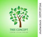 tree eco concept design   Shutterstock .eps vector #1059139166