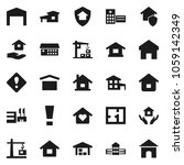 flat vector icon set   house... | Shutterstock .eps vector #1059142349