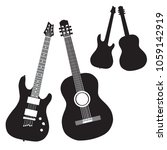 silhouettes of acoustic and... | Shutterstock .eps vector #1059142919