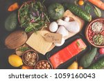 keto diet concept. ketogenic...   Shutterstock . vector #1059160043