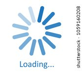 circular loading sign  waiting... | Shutterstock .eps vector #1059160208