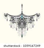 abstract zen tangle  symbol in... | Shutterstock .eps vector #1059167249