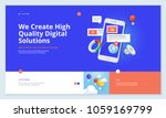website template design. modern ... | Shutterstock .eps vector #1059169799