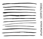brush strokes collection ...   Shutterstock .eps vector #1059170810