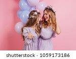 indoor portrait of long haired... | Shutterstock . vector #1059173186
