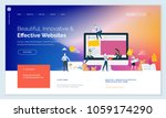 effective website template... | Shutterstock .eps vector #1059174290