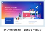 effective website template... | Shutterstock .eps vector #1059174839