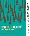 gig poster flyer template | Shutterstock .eps vector #1059174926