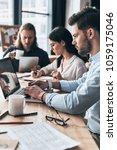 creative office. young modern... | Shutterstock . vector #1059175046