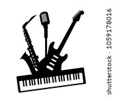 music jazz blues band group... | Shutterstock .eps vector #1059178016