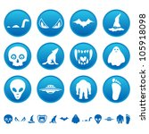 mysterious icons | Shutterstock .eps vector #105918098