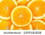 background of fresh oranges. | Shutterstock . vector #1059181838