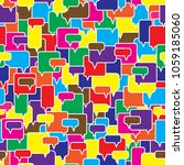 speech bubbles seamless pattern.... | Shutterstock .eps vector #1059185060