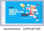 website design. vector... | Shutterstock .eps vector #1059187100