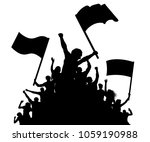 cheerful crowd people... | Shutterstock .eps vector #1059190988