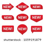new tag  label set. vector... | Shutterstock .eps vector #1059191879