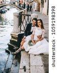 beautiful wedding couple in... | Shutterstock . vector #1059198398
