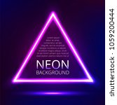 neon triangle. abstract vector... | Shutterstock .eps vector #1059200444