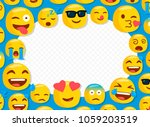 children photo frame with funny ... | Shutterstock .eps vector #1059203519