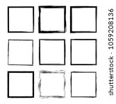 set of grunge square frames.... | Shutterstock .eps vector #1059208136