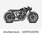 monochrome cafe racer... | Shutterstock .eps vector #1059210350