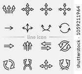 set of arrows  thin line icons. | Shutterstock . vector #1059211964