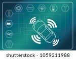 autonomous car concept. car... | Shutterstock .eps vector #1059211988