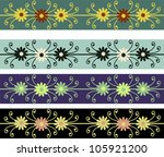 set of abstract retro ornaments | Shutterstock .eps vector #105921200