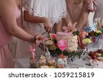group of women at a baby shower ... | Shutterstock . vector #1059215819