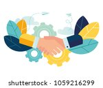 business concept vector... | Shutterstock .eps vector #1059216299