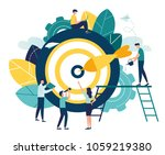 business concept vector... | Shutterstock .eps vector #1059219380
