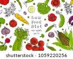 organic food design template.... | Shutterstock .eps vector #1059220256