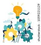 business concept vector...   Shutterstock .eps vector #1059221129