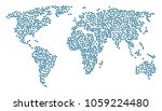 worldwide collage map... | Shutterstock .eps vector #1059224480