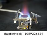 Gas Burner In Close Up With An...