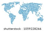 geographic mosaic map designed... | Shutterstock .eps vector #1059228266