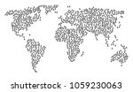 geographic concept map combined ... | Shutterstock .eps vector #1059230063
