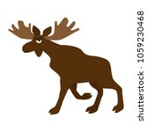 moose isolated on white cartoon ... | Shutterstock .eps vector #1059230468