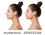 comparison of female nose after ... | Shutterstock . vector #1059231206