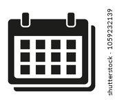 flat calendar icon on white...