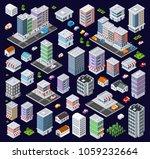 set of modern isometric... | Shutterstock . vector #1059232664