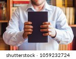 close up view of book in... | Shutterstock . vector #1059232724