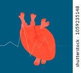 cartoon heart on a blue...   Shutterstock .eps vector #1059235148