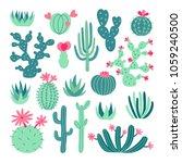 Succulent Set Illustration. Eps ...