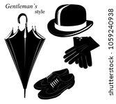 vintage gentleman elegance... | Shutterstock .eps vector #1059240938
